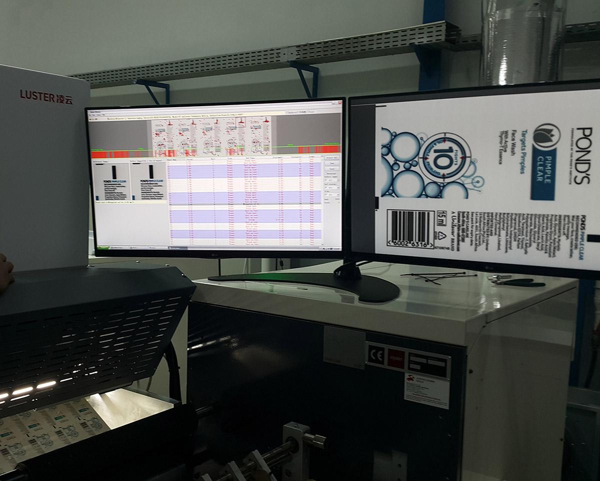 Luster Inline Qualitäts Inspektion für den Etikettendruck