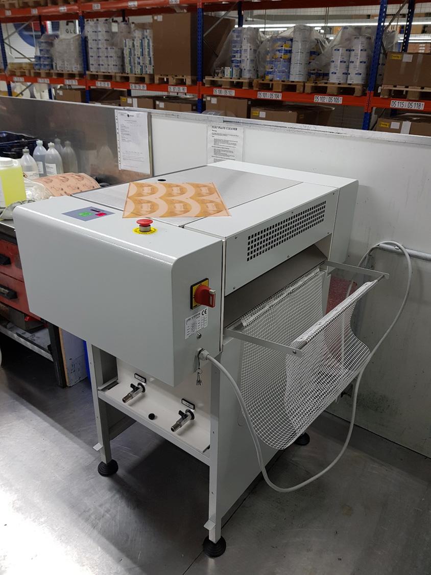 Plattenwaschanlage mit 450mm