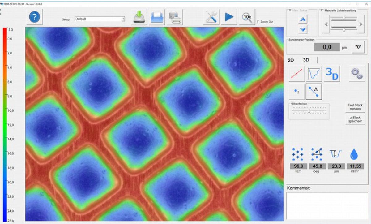 3D-Messung DotScope Mini Screenshot