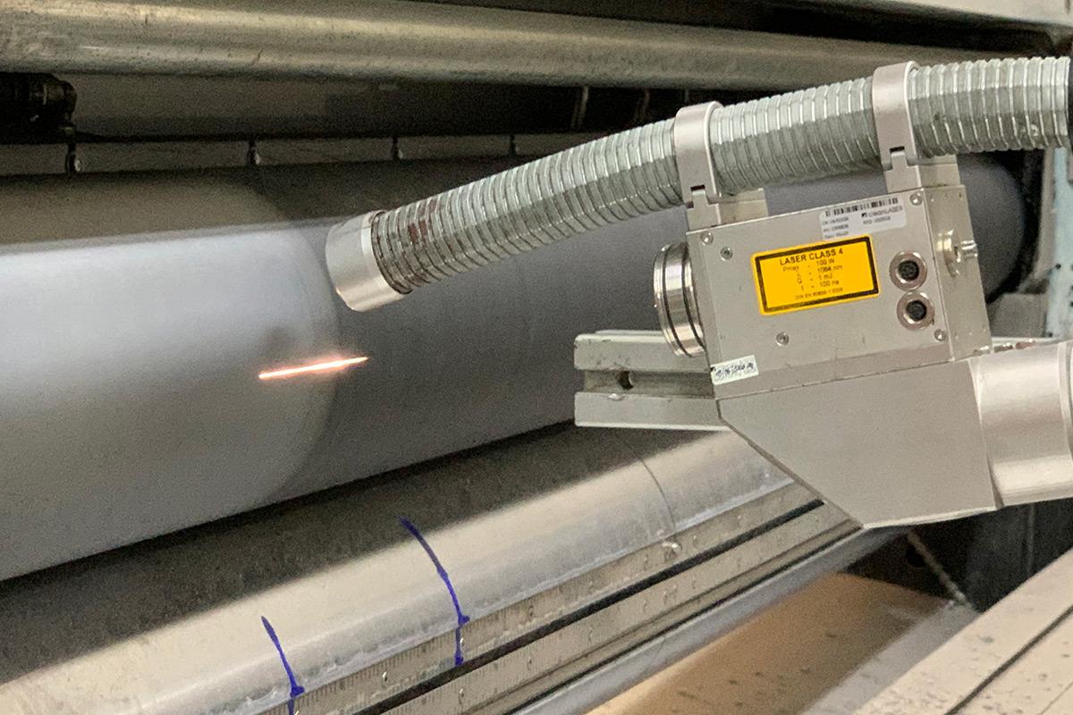 Laserreinigung einer Rasterwalze Dienstleistung
